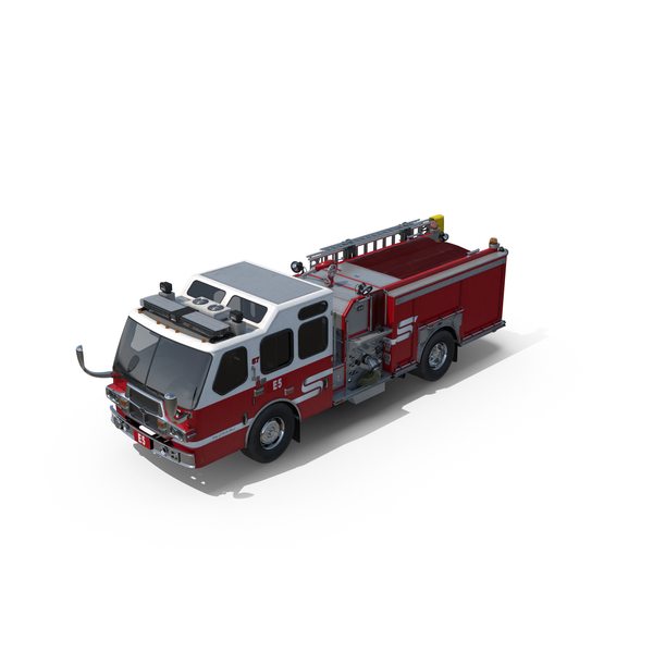 Eastside Fire Rescue E-One Quest Pumper PNG & PSD Images