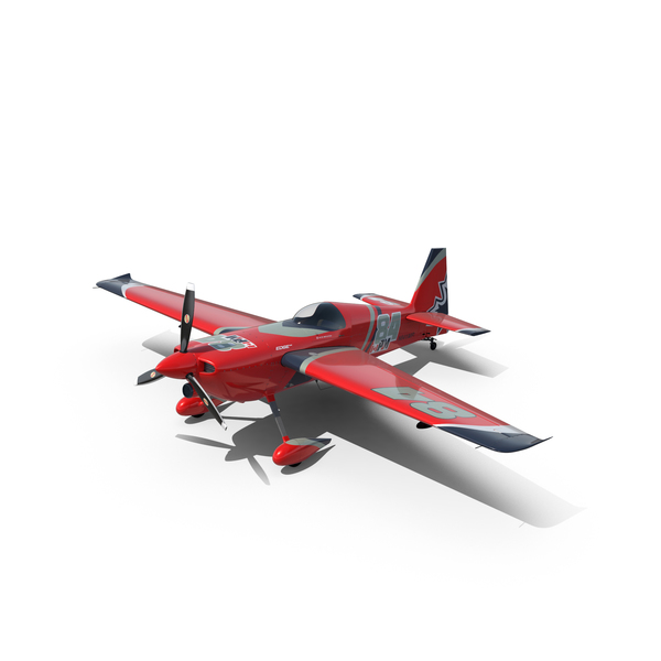 Edge 540 Race Aircraft Red PNG & PSD Images