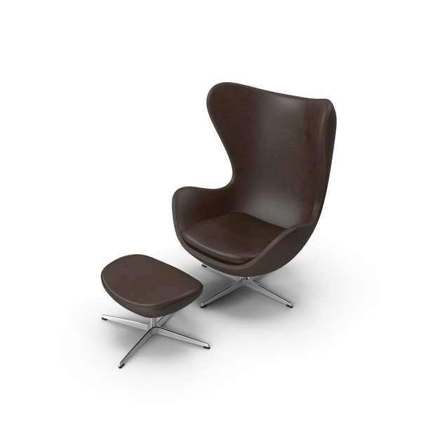 Egg Lounge Chair Brown PNG & PSD Images