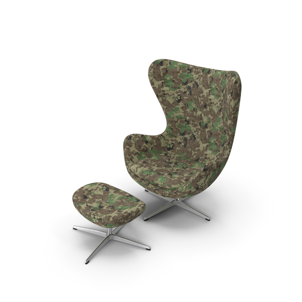 Egg Lounge Chair Camouflage PNG & PSD Images