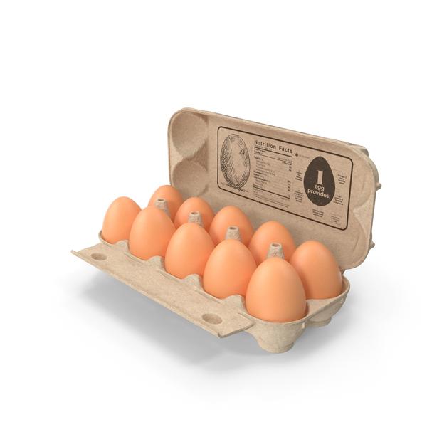 Eggs in Open Carton Package PNG & PSD Images