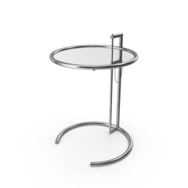 Eileen Gray Adjustable Side Table PNG & PSD Images