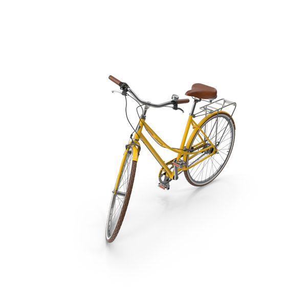 Electra Yellow Women Bike PNG & PSD Images