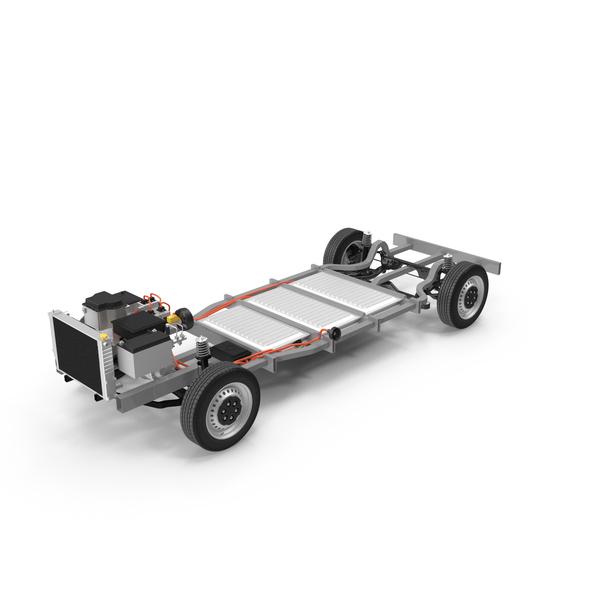 Electric Euro Van Chassis PNG & PSD Images