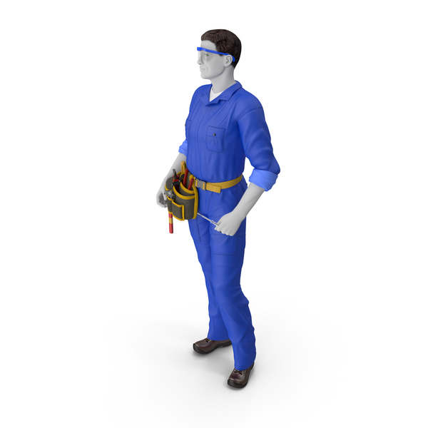 Mechanic: Electrician Standing Pose PNG & PSD Images