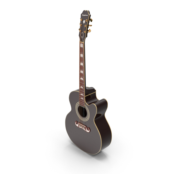 Electro Acoustic Guitar Black PNG & PSD Images