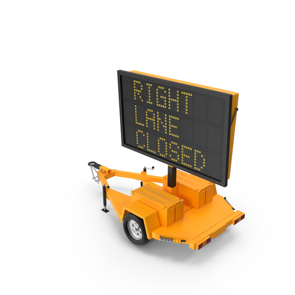 Electronic Traffic Sign PNG & PSD Images