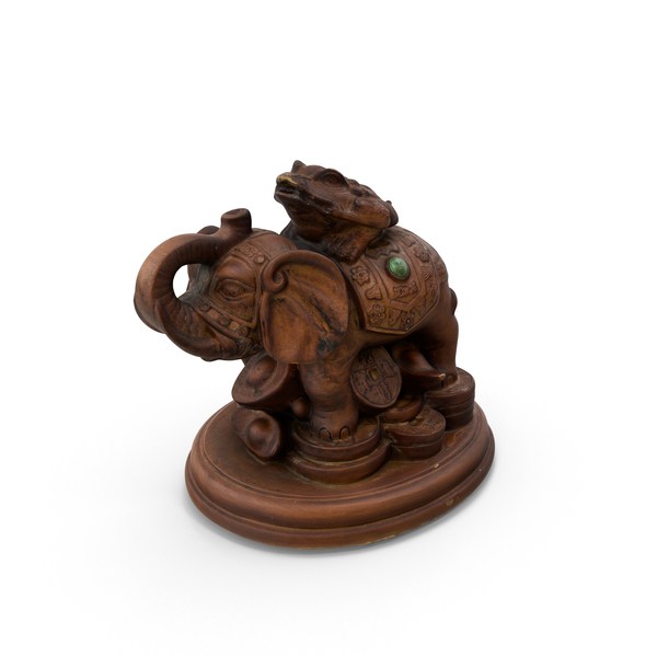 Elephant Brown Toy Statue PNG & PSD Images
