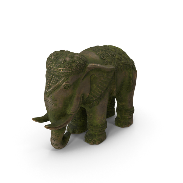 Elephant Statue Old Gold PNG & PSD Images