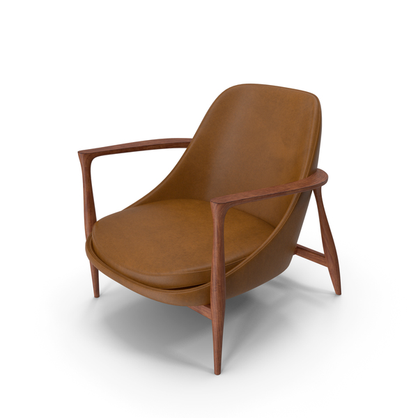 Lounge: Elisabeth Chair Brown PNG & PSD Images