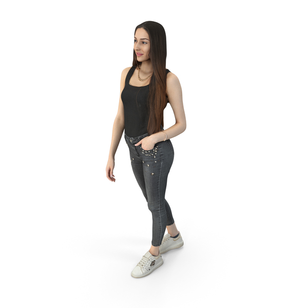 Woman: Elizabeth Casual Spring Idle Pose PNG & PSD Images
