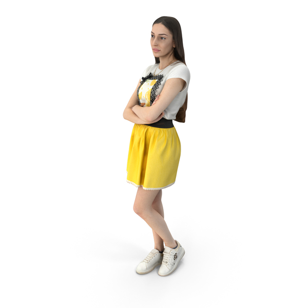 Woman: Elizabeth Casual Summer Idle Pose PNG & PSD Images
