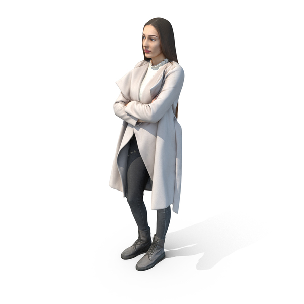 Woman: Elizabeth Casual Winter PNG & PSD Images
