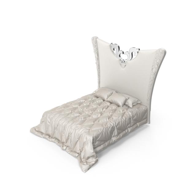 Elledue Luxury Art Deco Bed PNG & PSD Images