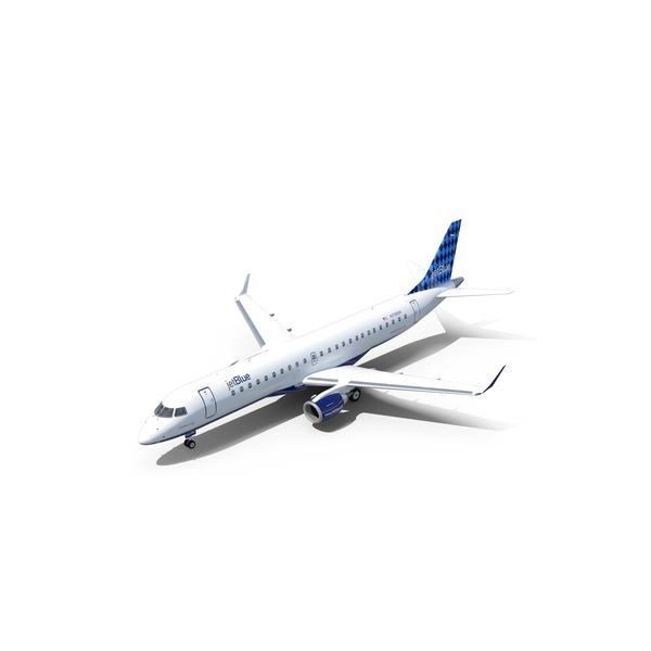 Embraer ERJ-190 Jet Blue PNG & PSD Images