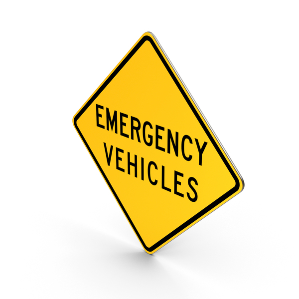 Emergency Vehicles Delaware Road Sign PNG & PSD Images