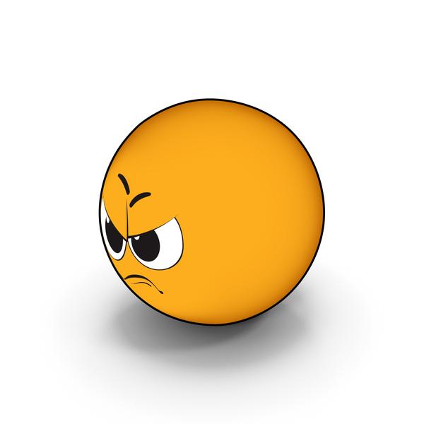 Smiley Face: Emoji Anger PNG & PSD Images