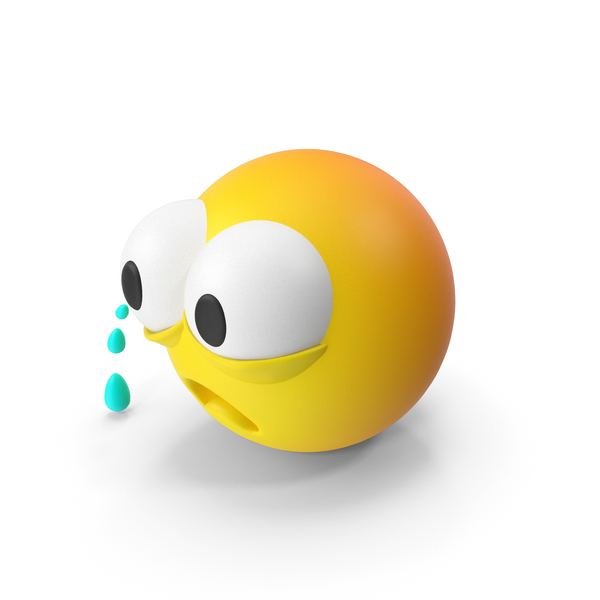 Smiley Face: Emoji Crying PNG & PSD Images