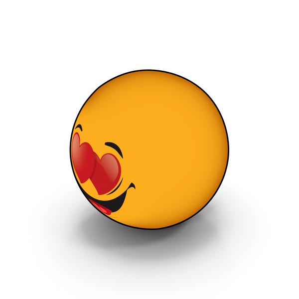 Smiley Face: Emoji Love PNG & PSD Images