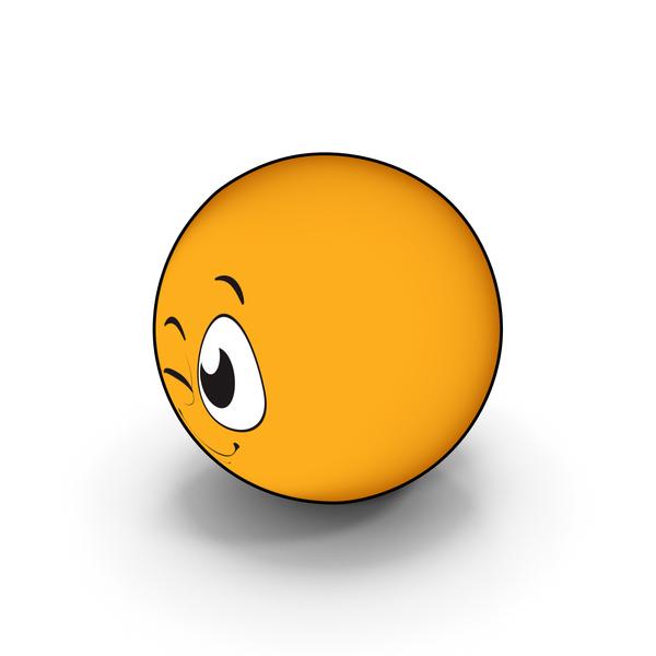 Smiley Face: Emoji Wink PNG & PSD Images