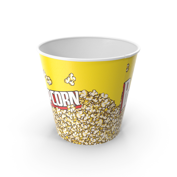 Food Container: Empty Big Popcorn Bucket PNG & PSD Images