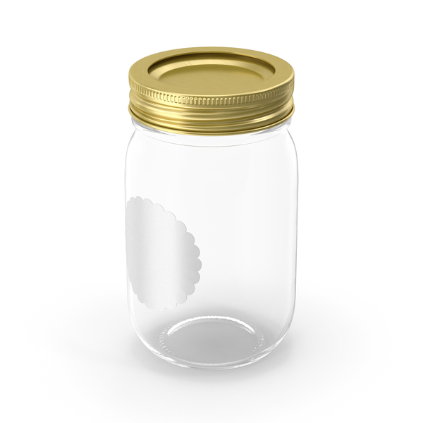 Empty Glass Jar with Cap PNG & PSD Images