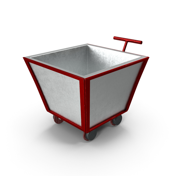 Empty Red Metal Trolley PNG & PSD Images