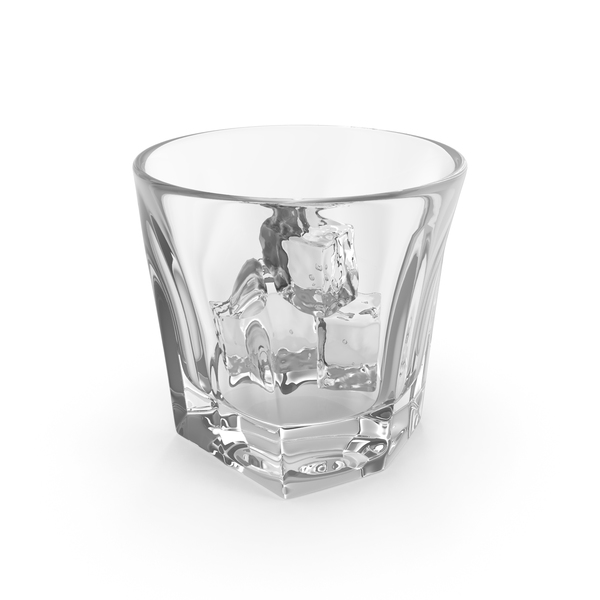 Empty Shot Glass with Ice PNG & PSD Images