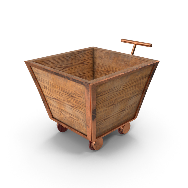 Empty Wooden Trolley PNG & PSD Images