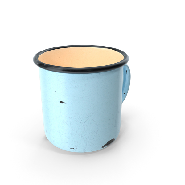 Coffee Cup: Enamel Mug Old PNG & PSD Images