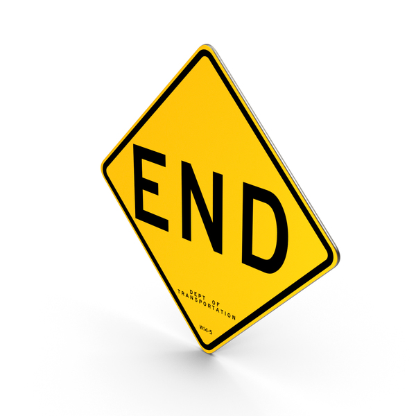End New York Road Sign PNG & PSD Images