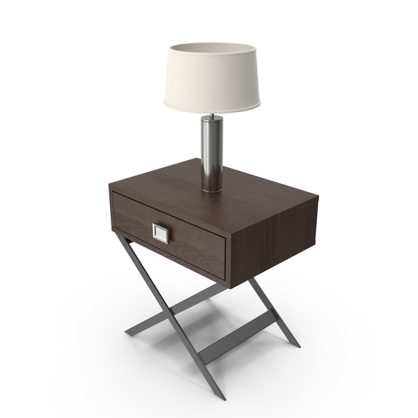 End Table with Lamp PNG & PSD Images