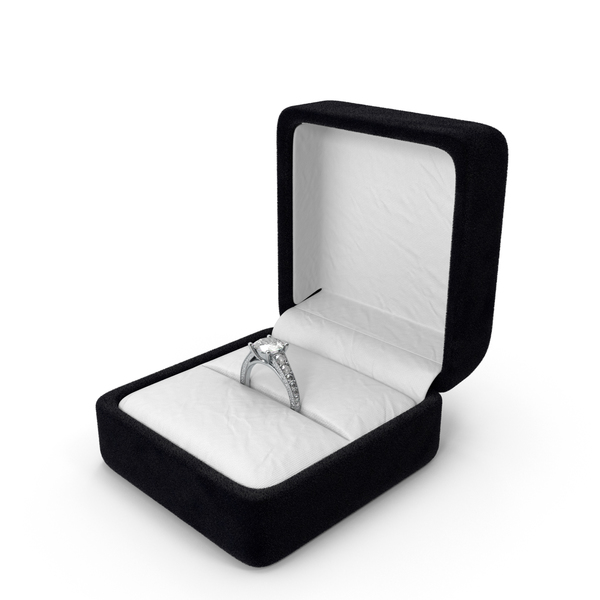 Engagement Ring in Ring Box Object