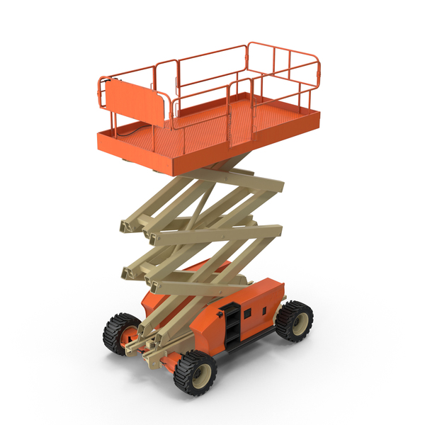 Engine Powered Scissor Lift PNG & PSD Images