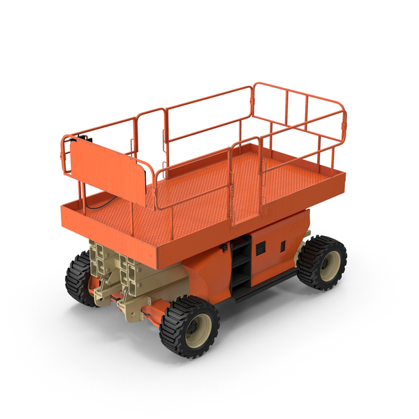 Engine Powered Scissor Lift Object