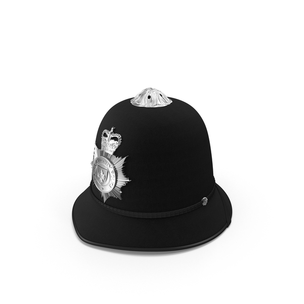 English Police Bobby Helmet Object