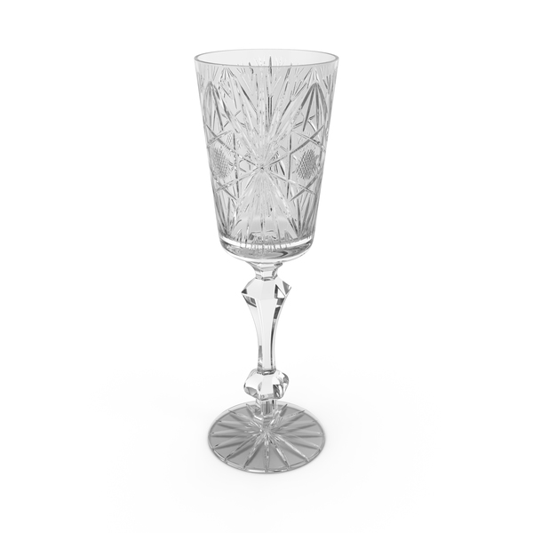 Engraved Champagne Glass PNG & PSD Images