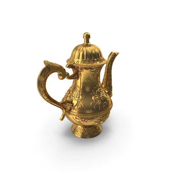 Engraved Coffee Pot PNG & PSD Images