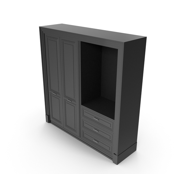 Entrance Black Wardrobe Cabinet PNG & PSD Images