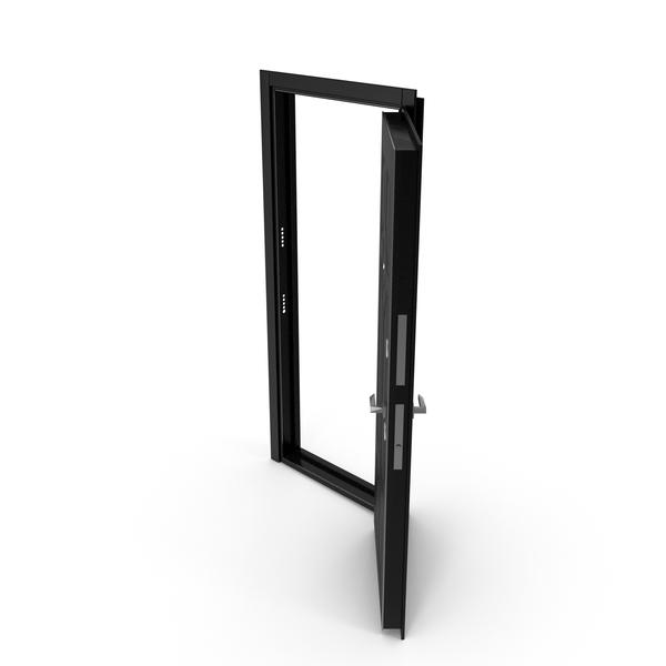 Entrance Door Black Open PNG & PSD Images