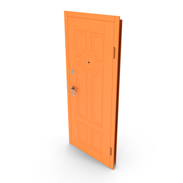 Interior: Entrance Door Orange PNG & PSD Images