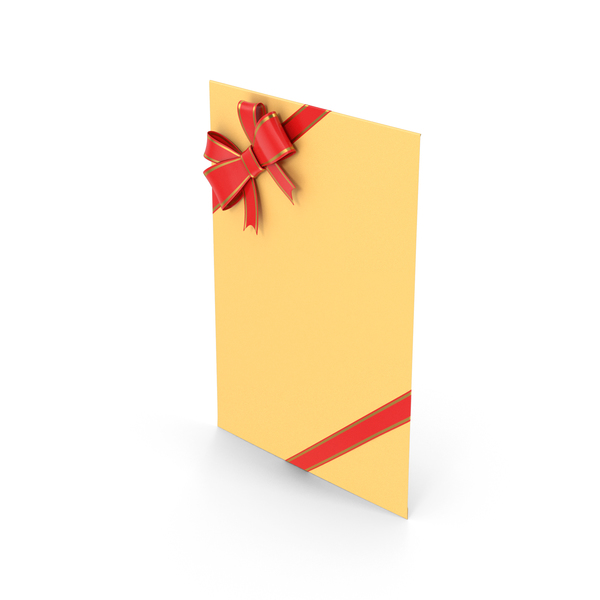 Envelope With Bow And Ribbon PNG & PSD Images