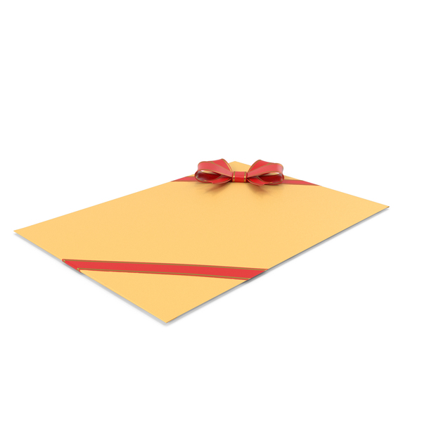 Gift Bag: Envelope With Bow And Ribbon PNG & PSD Images