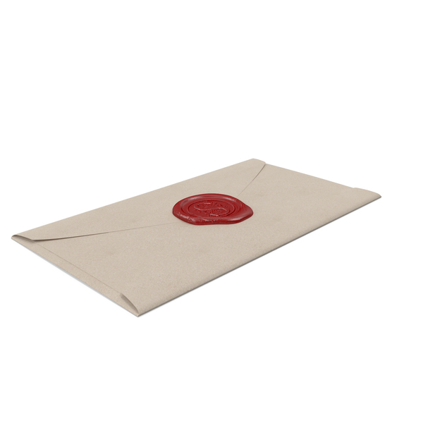 Envelope With Wax Seal Object