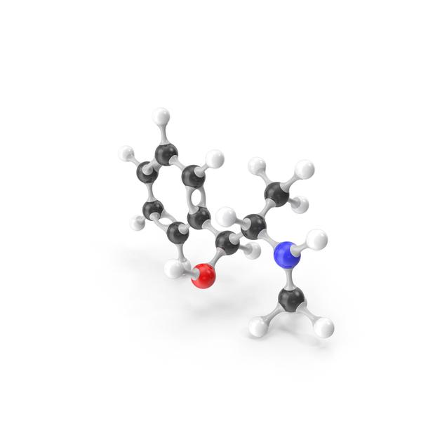 Ephedrine Molecular Model PNG & PSD Images