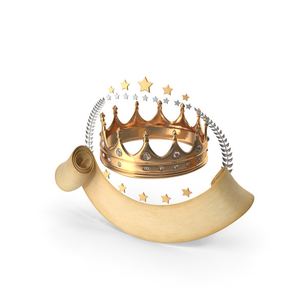 Shield: Epic Scroll Title Crown PNG & PSD Images