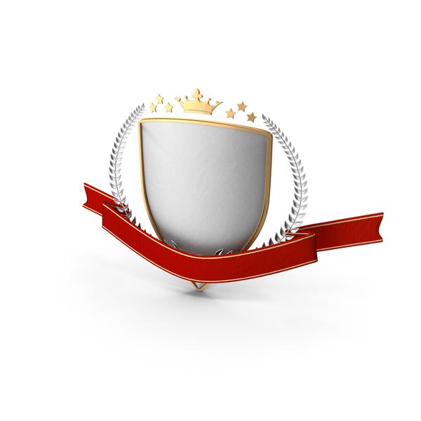 Epic Title Shield Emblem PNG & PSD Images
