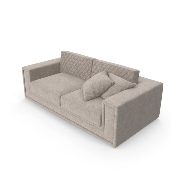Epoque Donald  Modrern Tufted Sofa PNG & PSD Images
