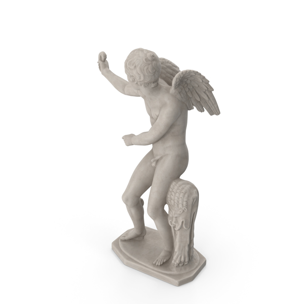 Eros with Bow Statue PNG & PSD Images