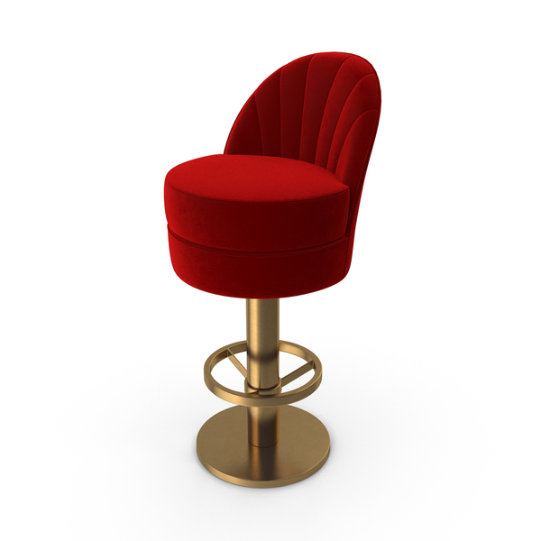 Essential Home Gable Bar Chair Velvet Red PNG & PSD Images